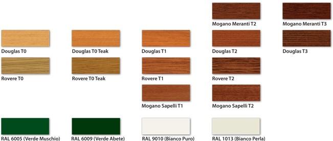 Essenze e colori finestre in legno a roma for Infissi color legno